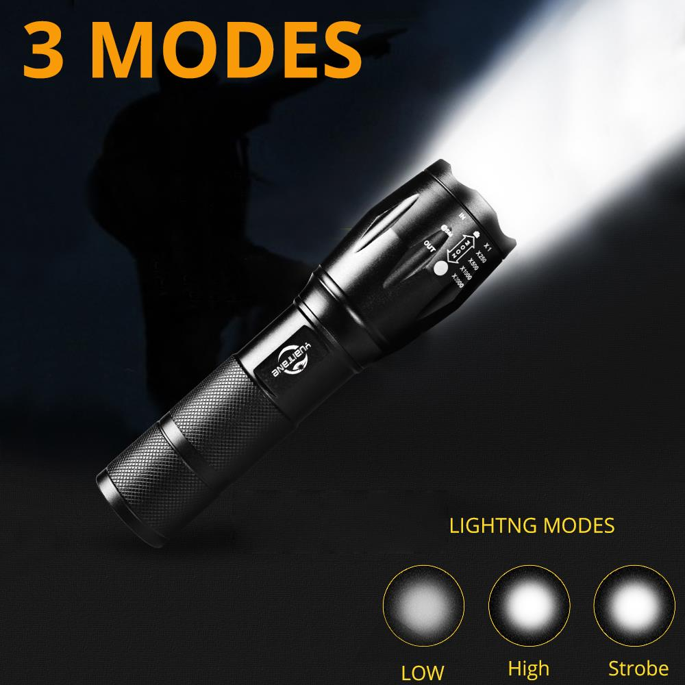 Купить с кэшбэком USB Flashlight 8000 Lumens Lanterna  T6/L2 Built-in 4200 Battery LED Torch Zoomable Bike Light High Power Rechargeable LED Lamp