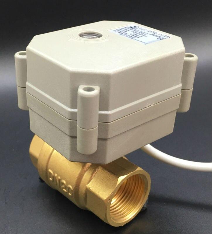 TFM20-B2-C New 2 Way Brass 3/4'' DN20 Proportional Valve DC9V-24V 0-5V 0-10V or 4-20mA 5 Wires For Water Modulating Control недорго, оригинальная цена