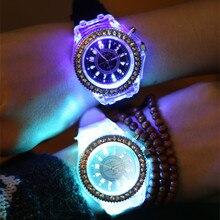 Zegarki meskie световой светодиодный часы Для мужчин часы лучший бренд Для мужчин часы мужской женский студенты пара желе кварцевые wo Для мужчин наручные часы