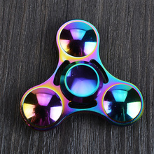 2017 New EDC Spinner Fidget Toys Pattern Hand Spinner Metal Fidget Spinner and ADHD Adults Children Educational Toys Hot