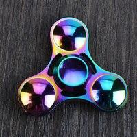 2017 New EDC Tri Spinner Fidget Toys Pattern Hand Spinner Metal Fidget Spinner And ADHD Adults
