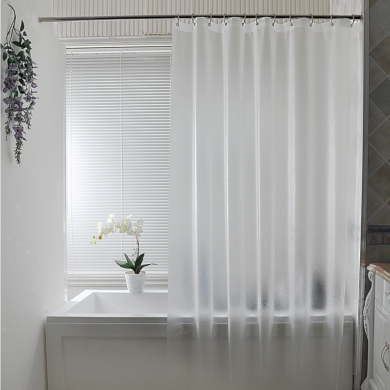 PEVA transparent matte shower <font><b>curtain</b></font> waterproof mildew shower <font><b>curtains</b></font> high-quality home decorative bathroom products