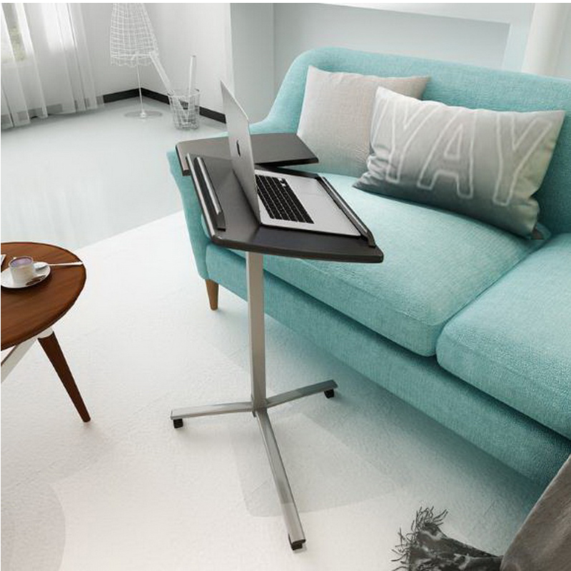 250628 simple lazy table laptop table bed table with desk sofa side stand up and down movable - Futon portatil ...