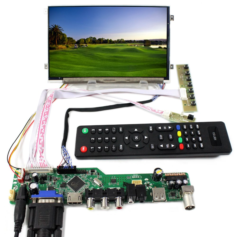 все цены на  TV PC HDMI CVBS RF USB AUDIO LCD Controller Board +7