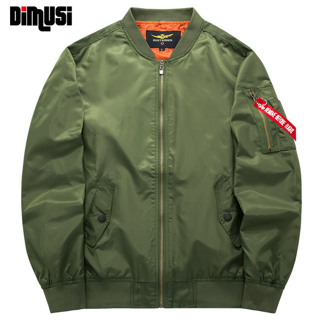 2016 Spring Autumn Mens Solid Flight Army Green Bomber Jacket Men's Rib Sleeve Zipper Short Air Force Bomber Coats Clothing 6XL