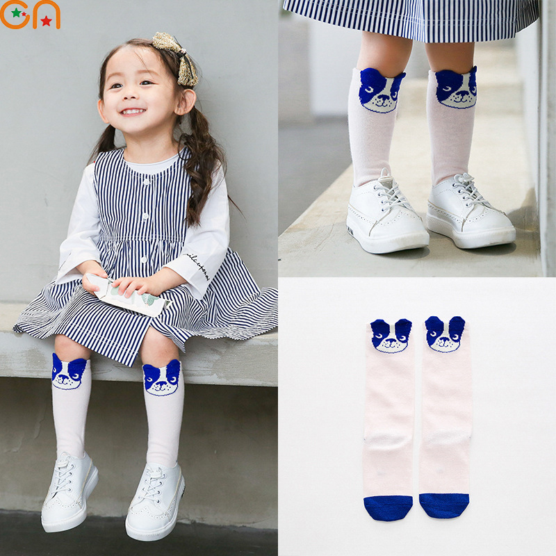 Boy,Girl cotton Socks Children,Baby,Infant fashion Cartoon dog Knee High socks Autumn,Winter for 1-5T Kids High-quality gifts CN
