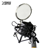 Metal Shock Mount Spider Microphone Wind Screen Pop Filter Stand Mic Isolation Shield For SAMSON C01U