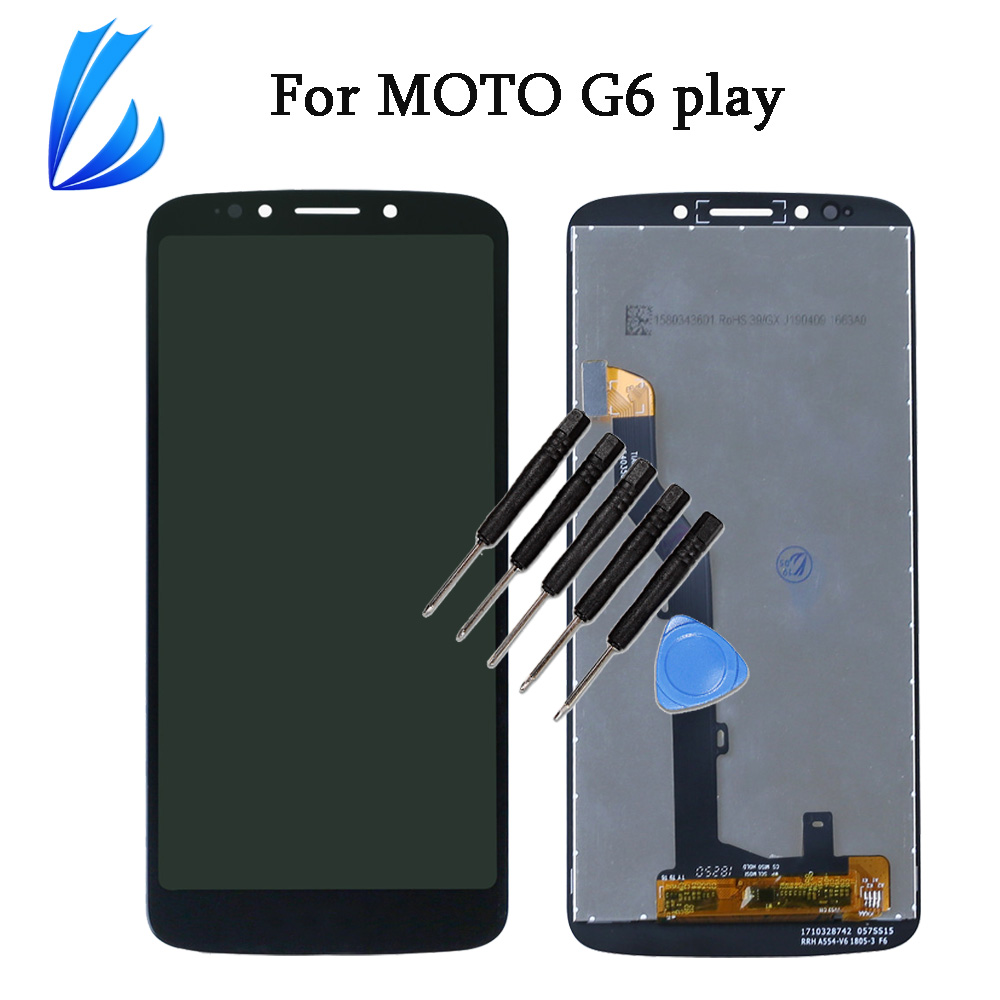 LL TRADER Screen Replacement For Motorola Moto G6 Play LCD Touch Display Panel Mobile Phone LCD Assembly Digitizer No Dead Pixel