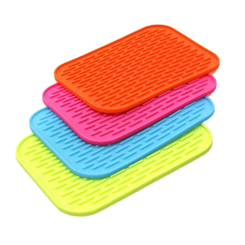 Insulation Mats Heat Pad Rectangle Non Slip Soft Silicone Table