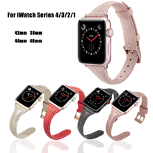 7 Color Hot Sell Leather bands for Apple Watchband 4 44/40mm Sport Bracelet Strap iwatch Series 3/2/1 42/38mm Wristbands
