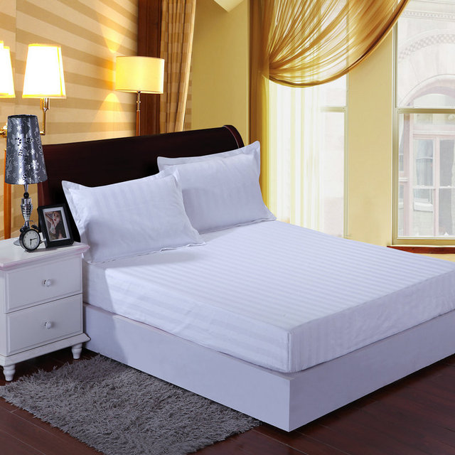 Bed Skirt Fitted Sheet (Queen, White,25cm Fall)   Hotel Quality,