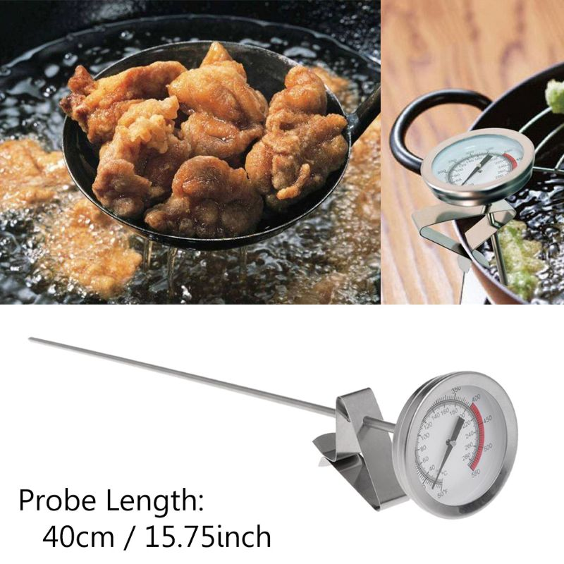 SHANWEN 1PC Frying Oil Fryer Fries Fried Chicken Wings BBQ Grill Thermometer 40cm Long Probe Temperature Measurement Instruments