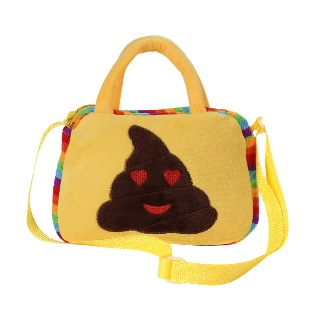 Emoji Face Expression Plush Toy Kid Bag Children Crossbody School Bag for Teenage Girls Handbag Schoolbag Messenger Bags
