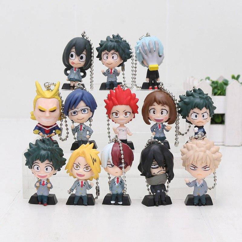 3cm cartoon meu herói boku nenhum herói academia chaveiros izuku midoriya bakugou katsuki ochaco uraraka figura pingente brinquedo presente