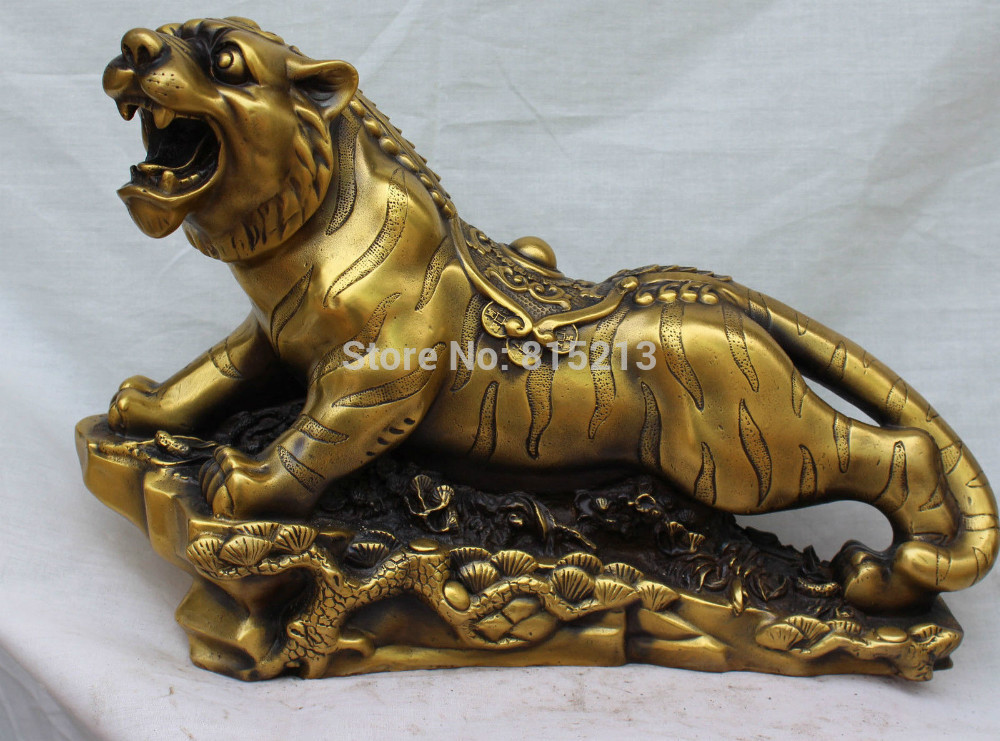 bi0011660 15Chinese Bronze Carving Zodiac Year Up To Hill Tiger Tigre On Tree Base Statuebi0011660 15Chinese Bronze Carving Zodiac Year Up To Hill Tiger Tigre On Tree Base Statue