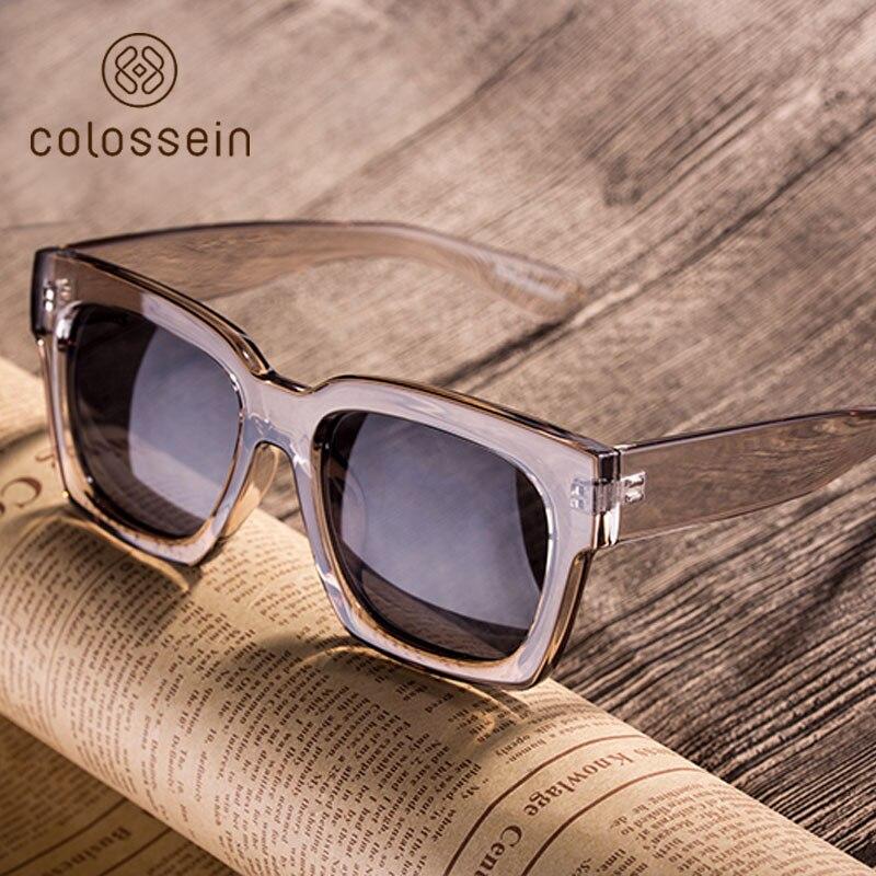 COLOSSEIN אופנה משקפי שמש נשים אוהב Oversize כיכר מסגרת Eyewear 2019 קיץ משקפיים חדש מגמת עבור גברים lentes דה סול mujer