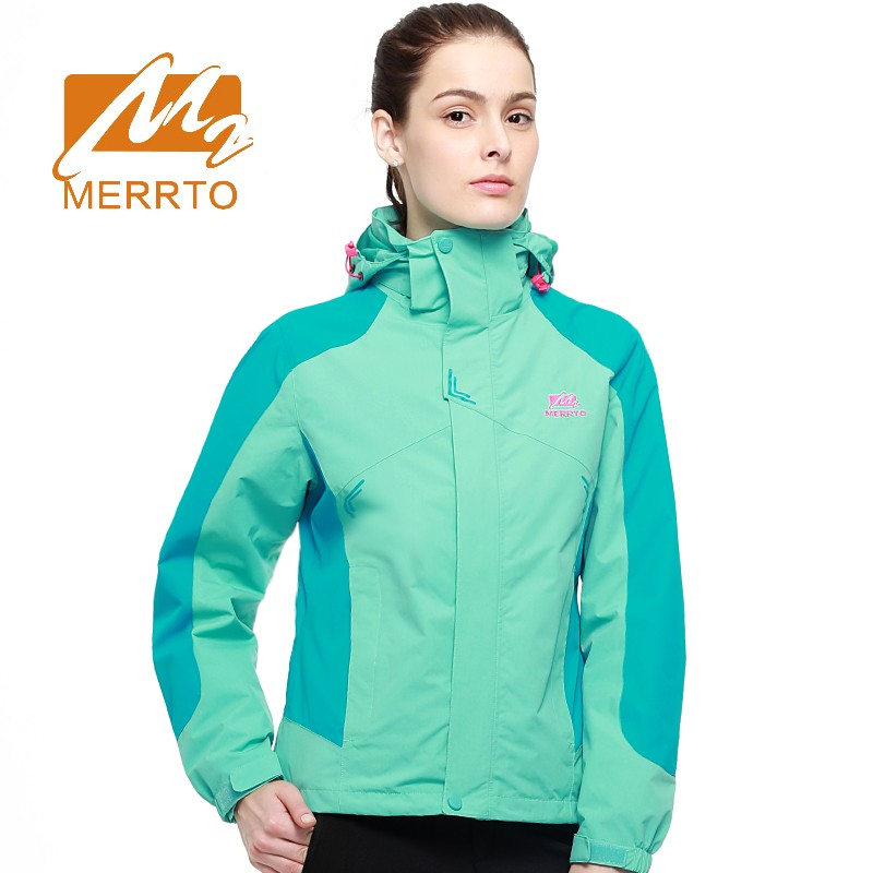 2018 Merrto Womens Hiking Jackets Breathable Outdoor Sports Jackets Waterproof Windproof Jackets For Women Free Shipping MT19126 2017 merrto womens fleece hiking jackets mountain clothing thermal color blue pink rose green for women free shipping mt19155