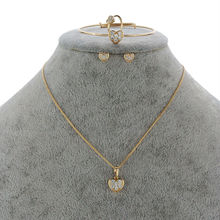 Strawberry Girls Gold-Color Child Jewelry Sets Pendant Necklace Bracelet