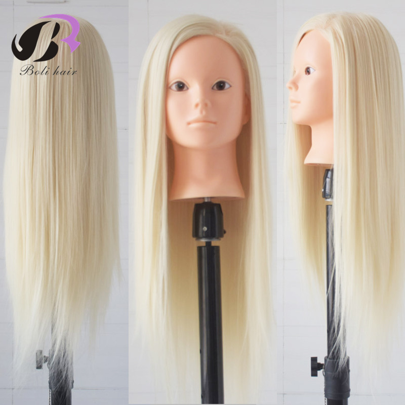 HairStyling Hairdresser Mannequin Head 100% High Temperature Fiber Female Mannequin Head For Makeup Practice Hair Mannequin Head