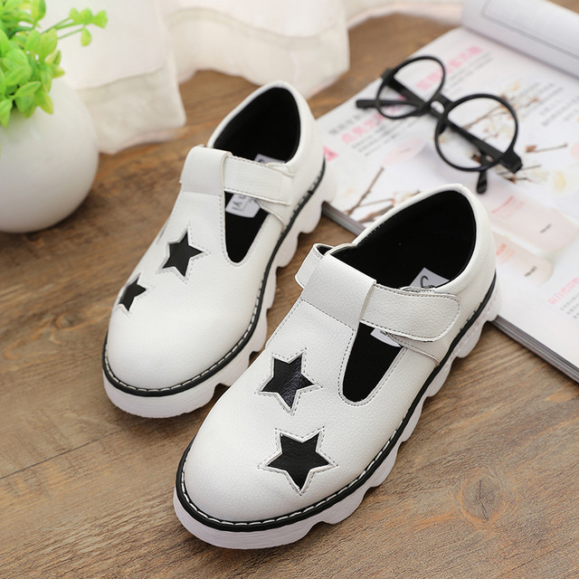 2015 Spring Summer Shoes Hollow Sandal For Boys Girls Children Leather Shoes  Sandals Korea Children's Shoes Stars