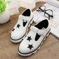 2015 primavera verão shoes oco sandália para meninos das meninas crianças shoes sandálias de couro das crianças da coréia shoes estrelas