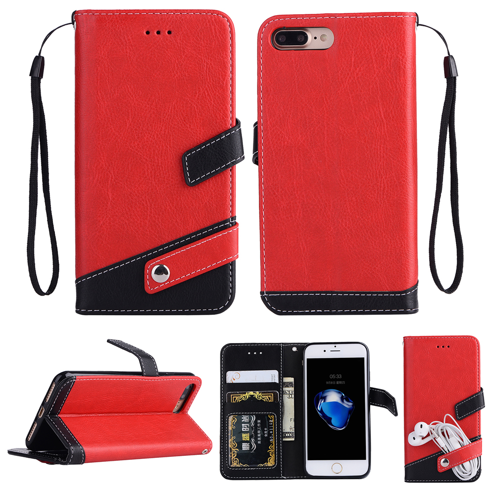 Luxury PU Leather Retro Flip Vintage Wallet cases For iphone 6 6s s 7 8 5 5s se x plus Case 4.7-5.0 Cover mobile phone shell