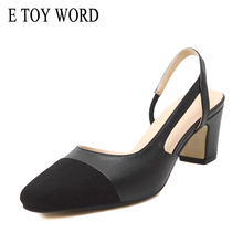 E TOY WORD naked sandals women shoes High Heels Round Toe Mary Jane Shoes Wedding party Sandals Casual