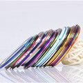 2015 nuevas Extremidades Del Arte Del Clavo Profesional 10 colores Mezclados Rollos Trazado de Líneas de Cinta Engomada de La Decoración de BRICOLAJE Cuidado de las Uñas 2012