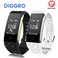 Diggro Bluetooth 4.0 S2 Smart Wristband Band Heart Rate Monitor Sport IP67 Waterproof OLED Smartband Bracelet For Android IOS