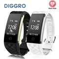 Diggro bluetooth 4.0 s2 inteligente muñequera band pulsera smartband ritmo cardíaco del deporte del monitor oled ip67 a prueba de agua para android ios