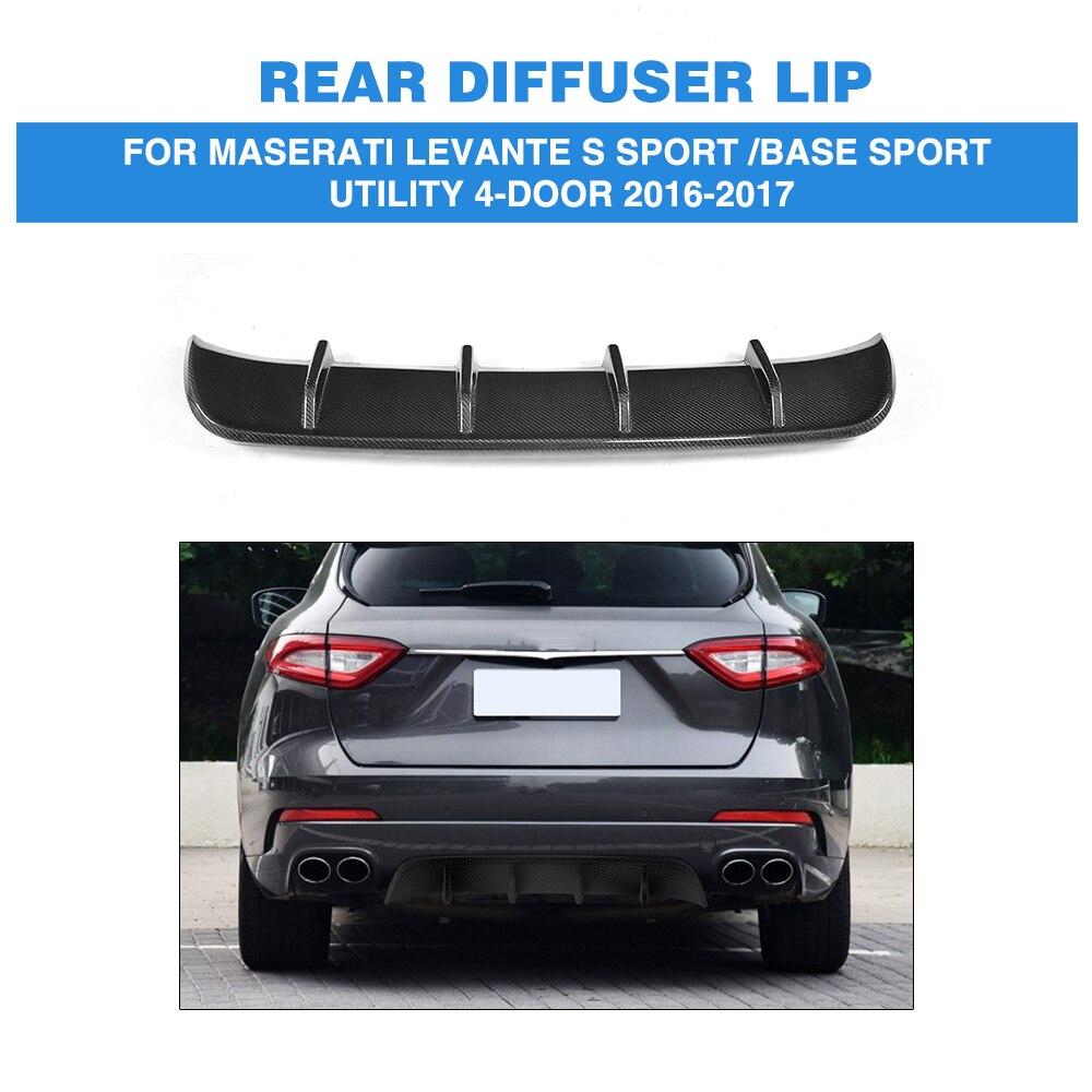 Углерода Firber и FRP углеродного волокна заднего бампера Выпускной диффузор для губ для Maserati Levante S Спорт база Sport Utility 4 двери 16 17