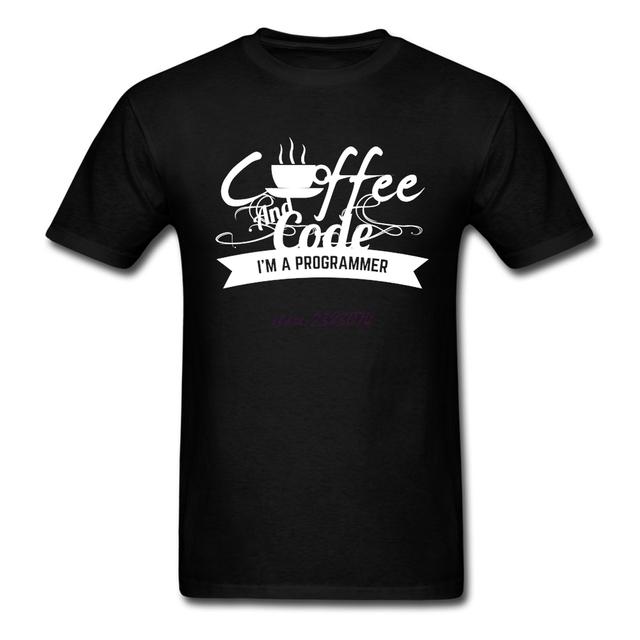 Programador de café y código de Hombre divertido soy un programador de Algodón clothing camisetas hombre o cuello del verano de manga corta camisetas frescas