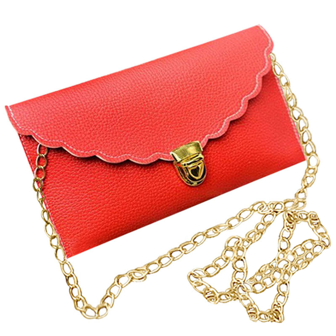 Ladies Handbag Imitation Leather Shoulder Bag Fashion Wallet Long