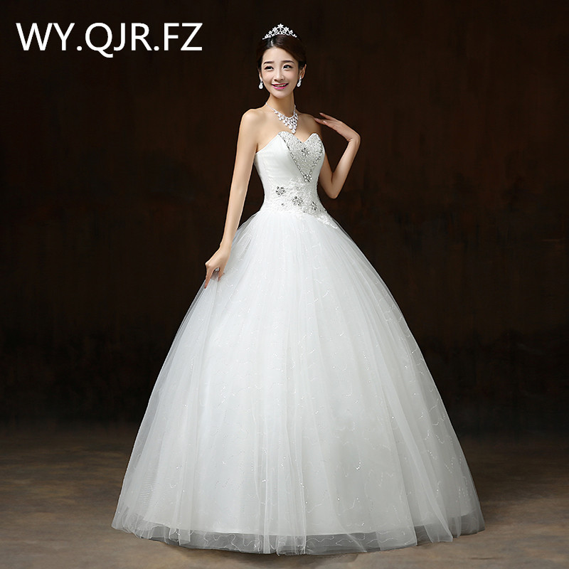 Popular Tube Top Lace Up Wedding Dress Buy Cheap Tube Top Lace Up