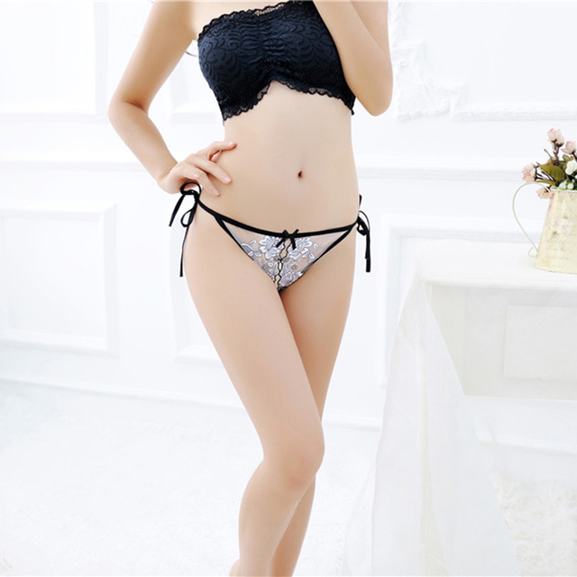 Woman Open Crotch Sex Underwear Sexy Lingerie Lace Thong Panties Erotic Apparel Fetish Intimates Bandage Belt Crotchless Panties