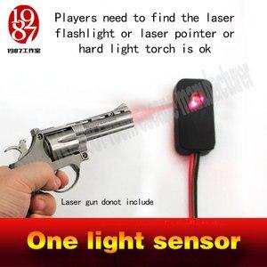 Sala real escapar jogo um sensor de luz prop laser lanterna para escapar tocha mágica forte luz atirar para abrir o bloqueio