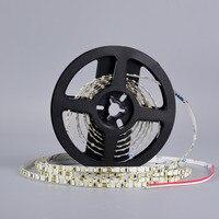 5 M SMD 2835 5mm Genişliği Esnek LED Şerit Işık 120 leds/m DC24V LED Bant Şerit Ledstrip olmayan Su Geçirmez Beyaz Sıcak Beyaz