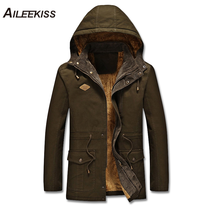 2018 Thick Men Hooded Wadded Jacket Male Winter Warm Coat Man Casual Solid Jackets 4XL Plus Size Mans Jackets Cotton Mans XT539