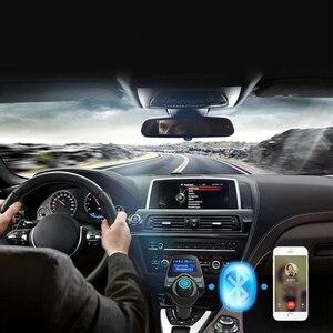 Image 5 - Bluetooth Trasmettitore FM USB Kit Per Auto Aux 12V Lecteur USB Voiture In Metallo E Plastica MP3 Lettore Auto Per Auto ABS Bluetooth MP3