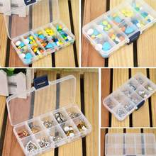 10 Slot Plastic Storage Box Jewelry Rings Adjustable Tool Box Case Craft Organizer Storage Bead Make up Organizer(China)