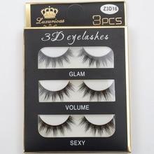 3 pairs /set 3D False Eyelashes