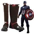 Avengers: Edad de Ultron Capitán América Botas Zapatos de Fiesta Cosplay Por Encargo