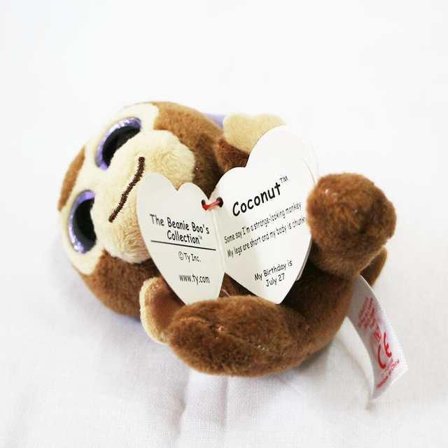 bb4058f8774 TY Beanie Babies Boo s Coconut Monkey Key Clip 3
