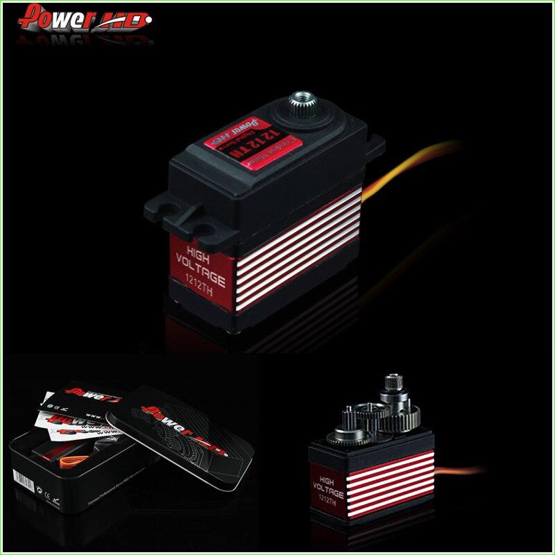 1pcs Power HD Digital Servo HD-1212TH 14kg/ 57g 7.4V High Voltage with 7075 Titanium Gears, Compatible with FUTABA/JR/MKS