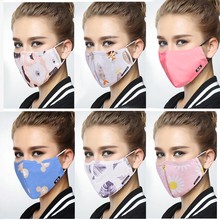 Women Mouth Mask Adjustable Washable Anti dust black Activated Carbon filter Windproof Mouth-muffle bacteria Face PM2