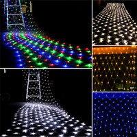 3m*2m 200 LED Net Mesh Fairy String Light Christmas Wedding Party Fairy String Light with 8 Function Controller EU/US/AU Plug