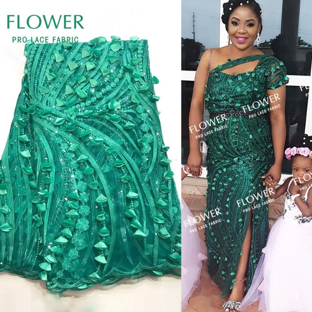 Green Color Applique Net Lace African Lace Fabric For Indian Noble Lady  Wedding Dress Sewing Nigerian Applique Mesh Net Tulle 88779ba9030c