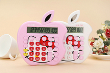 2016 New 12 digit pink cute Apple solar calculator wholesale calculator no voice cute calculator