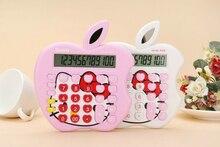 2016 New 12 digit pink cute Apple solar calculator wholesale calculator no voice cute calculator