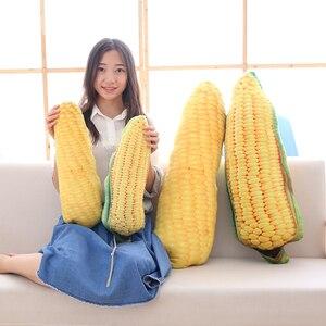 Image 1 - Almohada de maíz de 50/80CM, juguete de felpa relleno de frutas y verduras creativo, almohada de sofá casero, cojín de decoración